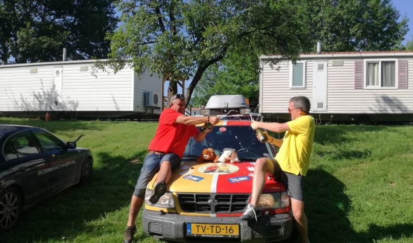 Team Buurman & Buurman haalt met zeven dagen rijden in hun 'barrel' een mooi bedrag op voor KiKa. | Foto: pr.