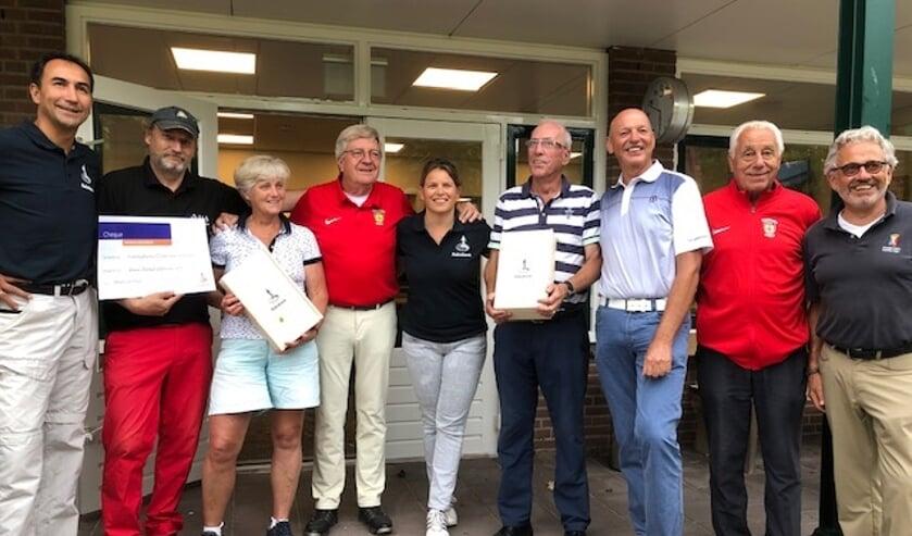 De prijswinnars: Eerste prijs Sandor Losecaat, tweede Gé Brandhorst en derde Colette Bouwman.
