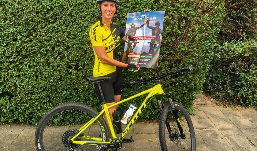 Margriet van Goeverden fietst voor Amref Flying Doctors. | Eigen foto