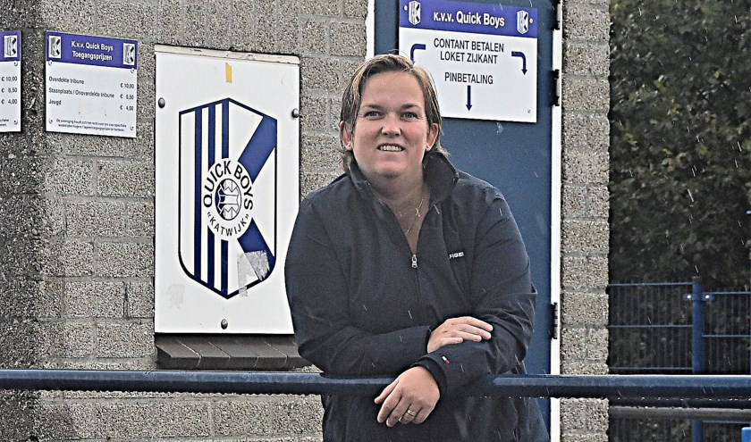 Henrieke Vooijs: 'Quick Boys mee in de ontwikkeling van het vrouwenvoetbal'.
