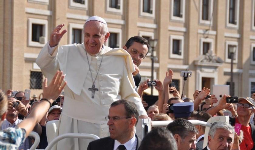 Ontmoet de paus tijdens de audiëntie.