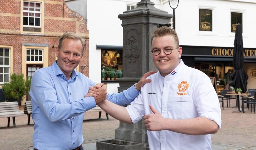 Wethouder Fred van Trigt en Bas Klarenbeek. | Foto: Sven van der Vlugt.
