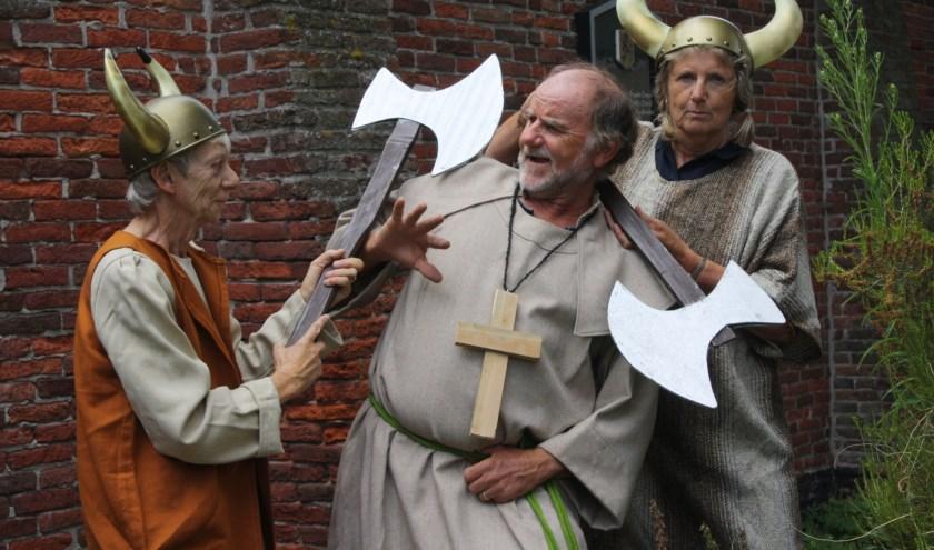 De gidsen van de Jeroentoren vertellen op zaterdag 17 augustus levensecht het verhaal van Jeroen. | Foto: Jos Westgeest