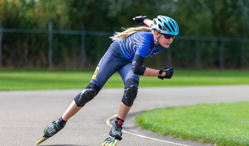 Bo Hoogvorst op weg naar haar kampioenschap. | Foto: Gé Wijnants