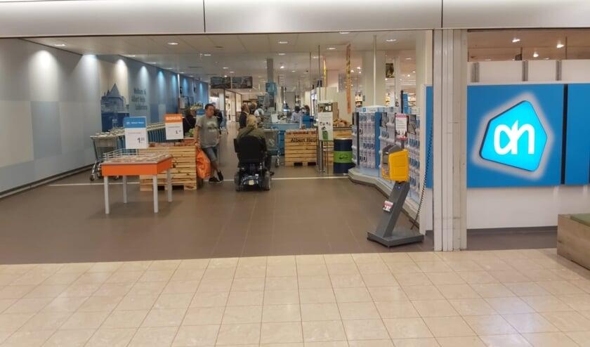 De Albert Heijn vestiging in het Leiderdorpse winkelcentrum Winkelhof.