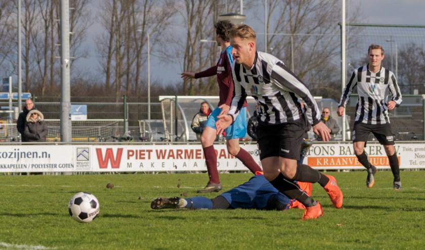 Tom Broekhuizen tekende voor de enige goal. | Foto: Archief