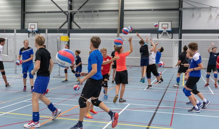 Jongens uit de hele regio leerden zaterdag onder leiding oud-international Yannick van Harskamp weer een stapje beter volleyballen. | Foto: Bas Leeflang (VCS)