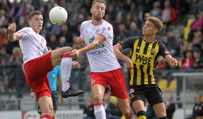 V.v. Noordwijk pakte zaterdag drie punten door winst op Rijnsburgse Boys. | Foto: H. Heemskerk