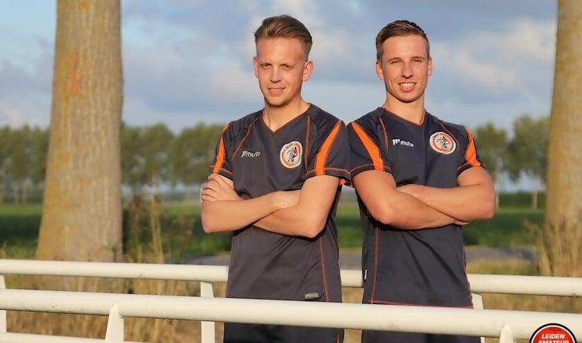 Nick en Tijs van der Schinkel van het naar de 2e klasse gepromoveerde Kagia, die nu al uitzien naar de krakers in het nieuwe seizoen.