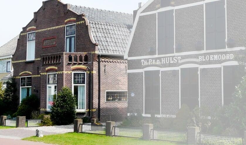 links de gerenoveerde woning en rechts de te behouden historische bollenschuur. | Foto: PR