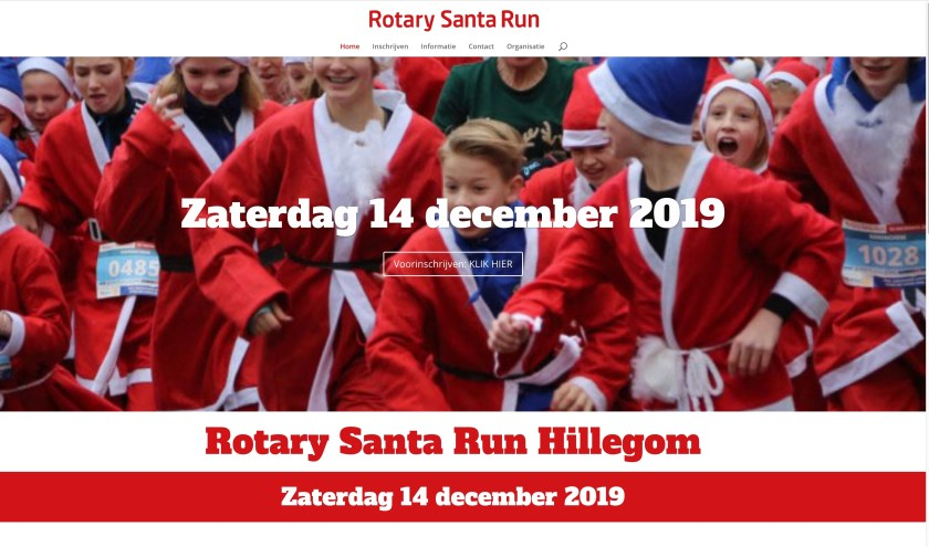 De eerste Santa Run in de Bollenstreek vindt plaats in Hillegom.
