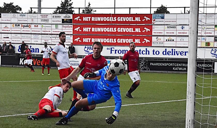 Max van Steen, bijna bij de openingstreffer. | Foto: PR