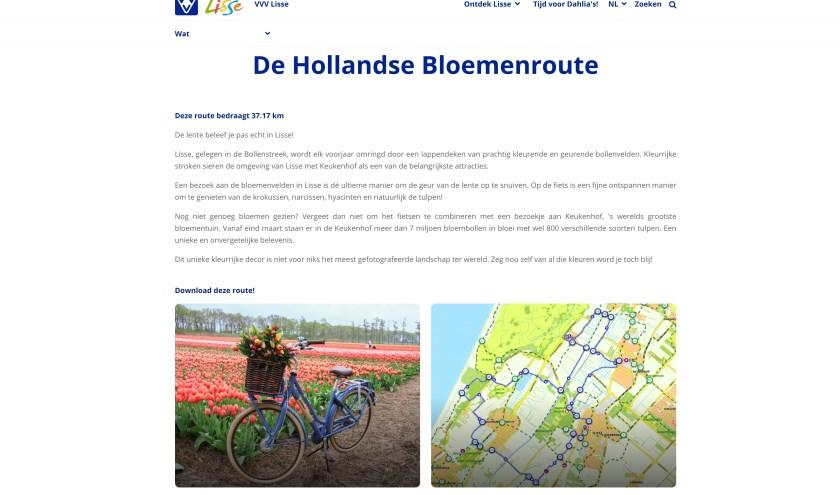 Op de website zijn diverse fietsroutes te downloaden, waaronder een wildspotroute en deze lentebloemenroute.