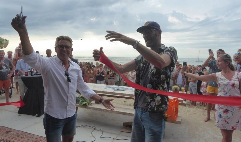 Gerben van Duin opende het nieuwe gebouw van de KSV. > Foto± Ina Verblaauw