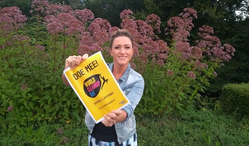 Michelle van Bohemen van de Rabobank roept alle Bollenstrekers op om mee te doen. | Foto: PR