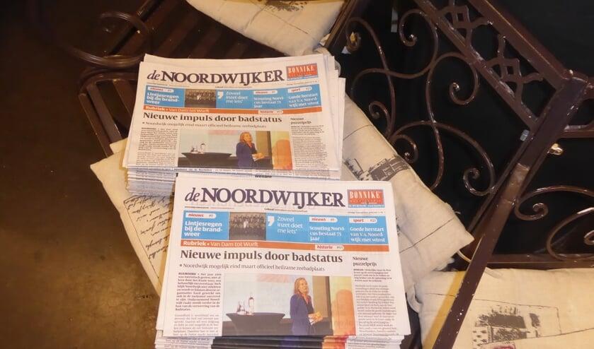 Het aantal plekken waar De Noordwijker vanaf woensdagmiddag is af te halen is verdubbeld. | Foto: Ina Verblaauw