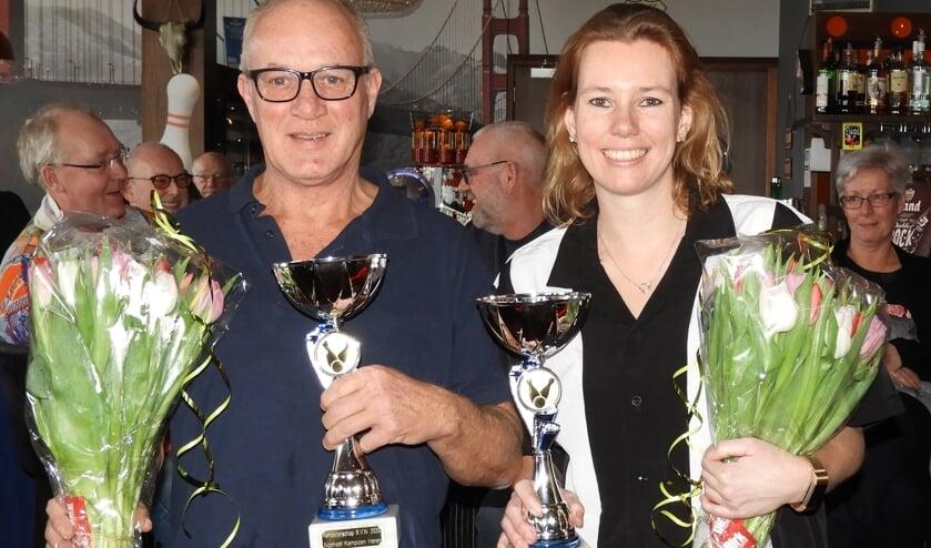 De algeheel kampioenen 2020 William van der Meij en Susan Jansen. | Foto: PR