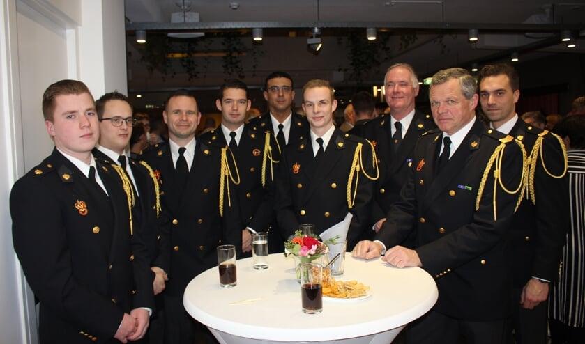 De delegatie van de Hillegomse Brandweer is ook vertegenwoordigd. | Foto: Annemiek Cornelissen
