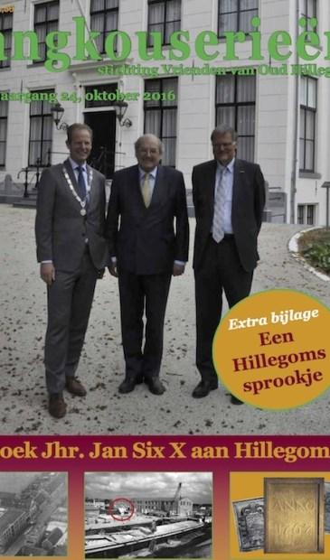 Een prominente coverfoto van Kees Warmerdam, met burgemeester Arie van Erk.