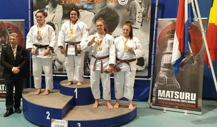 Eva Hornsveld pakt bronzen medaille in sterk judoveld. | Foto: pr