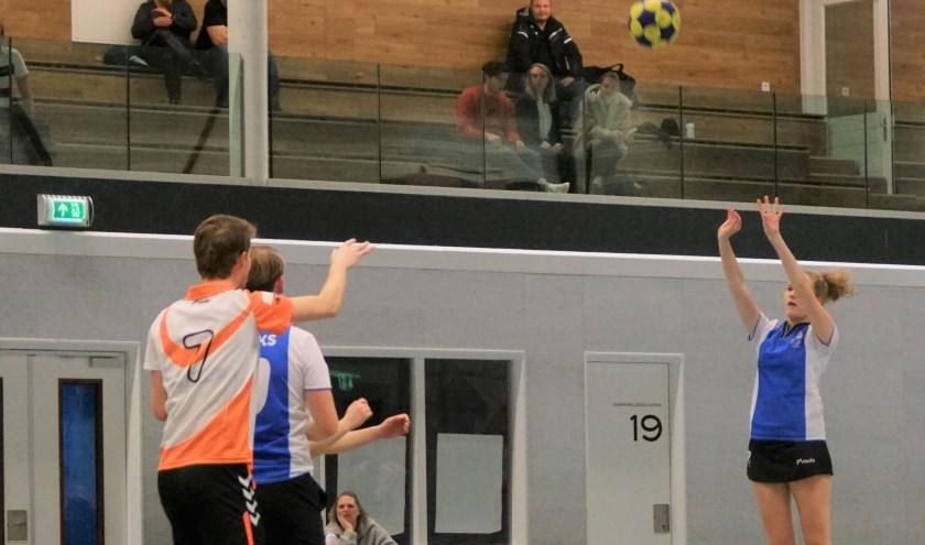 Ook Sanne Koch wist haar doelpuntje mee te pikken. | Foto: PR