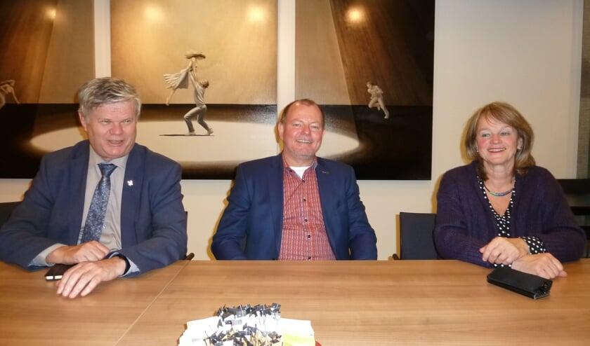 Kees van der Zwet, Denis Wassenaar van IP One en Lies Spruit.