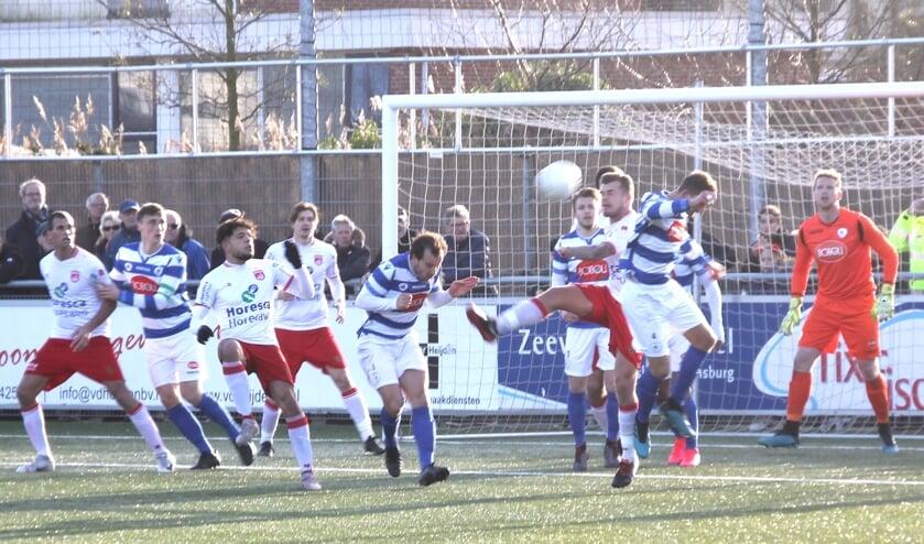 Noordwijk probeerde wat het kon maar doeltreffend kon ook Van Staveren deze keer niet zijn. | Foto: WS