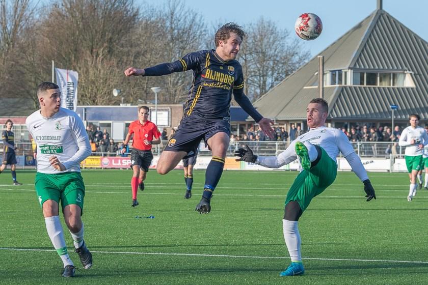 Timo Lichtenbeld stopt een aanval van Lugdunum. | Foto: lichtenbeldfoto.nl