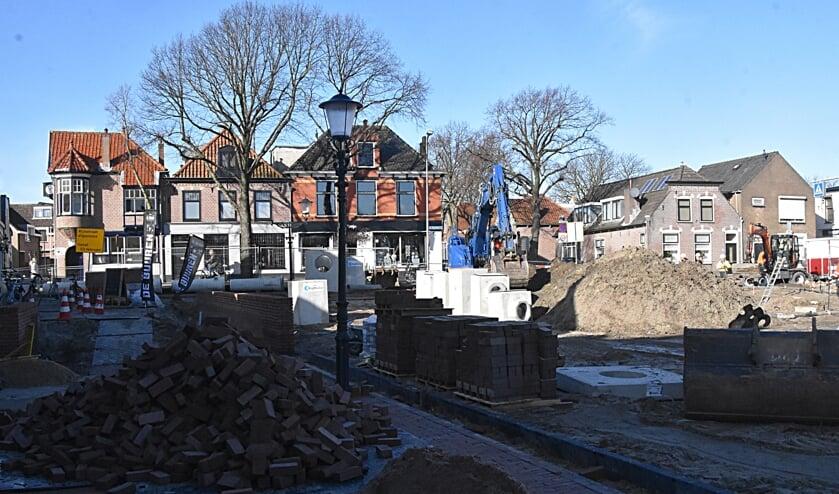 De Turfmarkt wordt heringericht en van nieuwe riolering voorzien. | Foto: Piet van Kampen