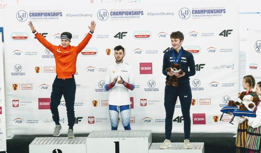 Yves Vergeer wordt tweede op de 5 kilometer.
