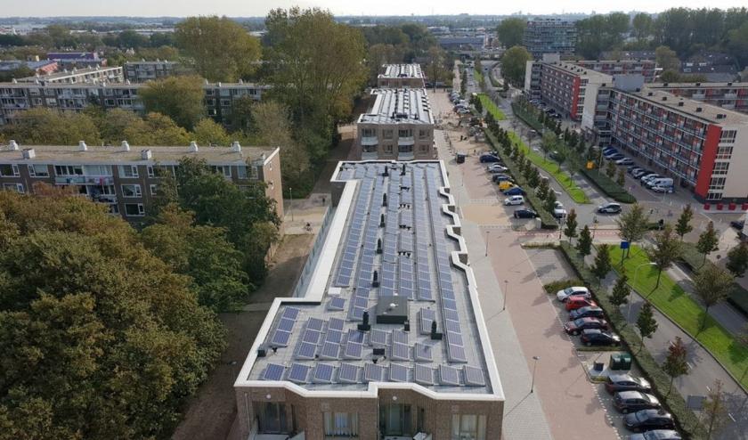 Zonnepanelen op de nieuwe appartementengebouwen aan de Hoorneslaan. | Foto: pr