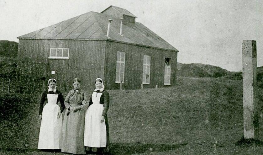 Ziekenbarak tyfus bij tol Zeeweg, gebouwd 1892 afgebroken 1925. | Foto Katwijks Museum