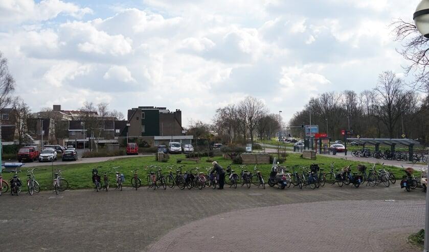 'Het grasveld op de plek waar tot 2012 het gemeentehuis stond. Een mooie locatie voor een woontoren, vindt stedenbouwkundig bureau  Urban Synergy.