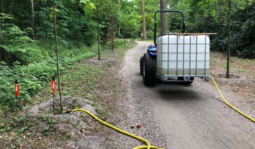 Een modern systeem helpt bij het water geven aan de vegetatie op Calorama. | Foto: PR
