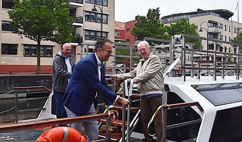 De Triton is weer terug aan de Haringkade.   Foto en tekst: Piet van Kampen