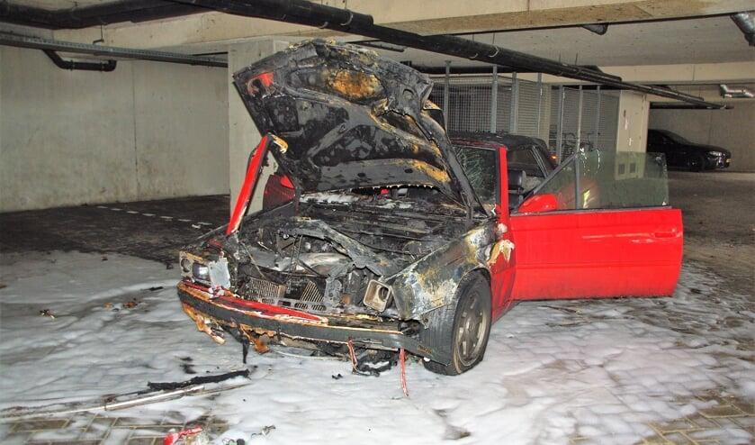 De Maserati was niet meer te redden. | Foto Willemien Timmers
