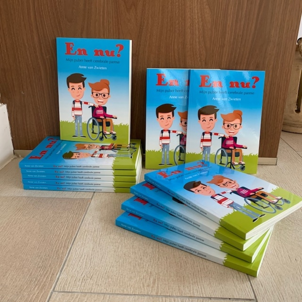 Het nieuwe boekje van Anne van Zwieten met columns over haar dochter Nadja. Foto: PR © uitgeverij Verhagen