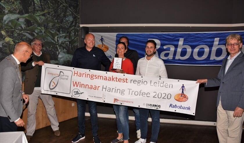 De winnaars en organisatoren van de Haringsmaaktest 2020.