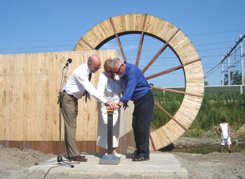 De opening van het Waterrad in juli 2006. Archieffoto