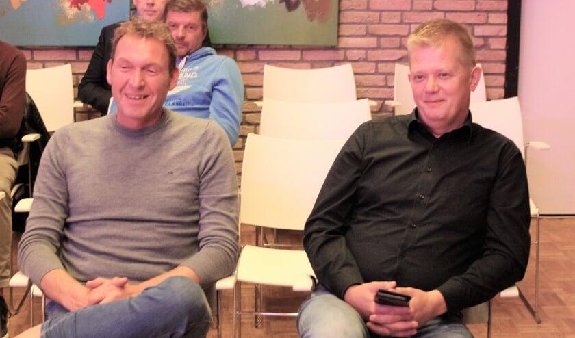 NOV-voorzitter Arjan van den Akker en penningmeester en horecaman Pieter van der Geest toonden zich tevreden met de steun van de gemeenteraad.