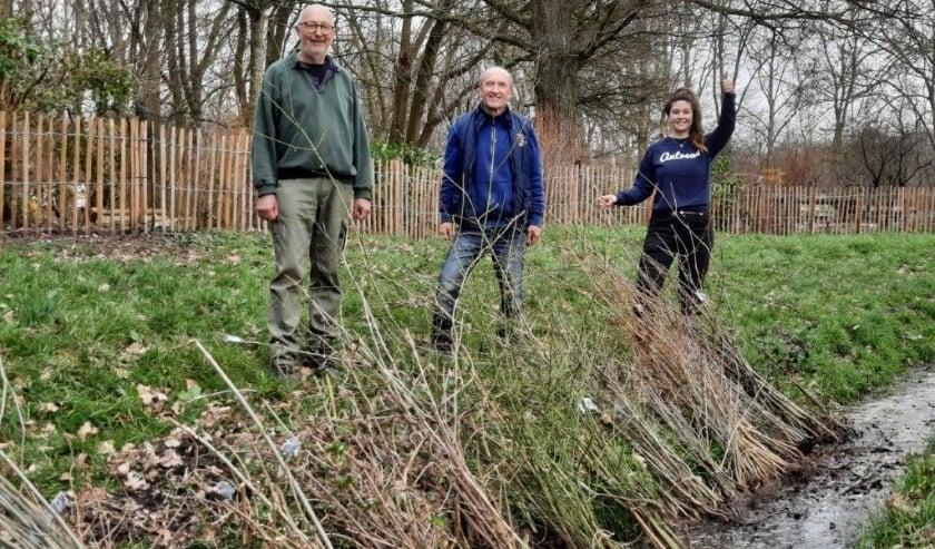 <p>Marga Witteman van Meer Bomen Nu met enkele vrijwilligers.   Foto: PR</p>