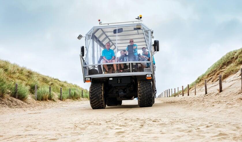 <p>De strandrups rijdt al jarenlang in Noordwijk.   Foto: Thomas Steenvoorden</p>
