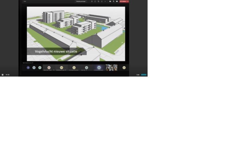 <p>Een beeld van de nieuwe flats in vogelvlucht.</p>