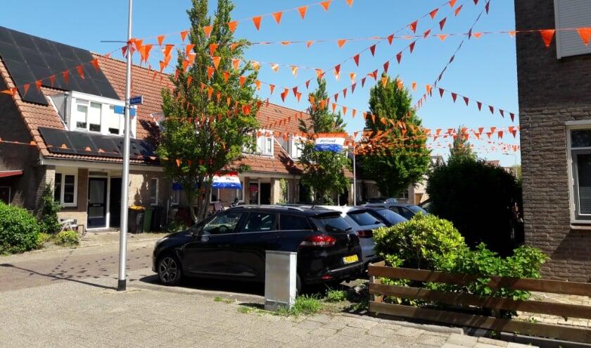 <p>Meer en meer straten hebben naast het rood-wit-blauw van geslaagden, ook EK-vlaggen. | Foto: MV</p>