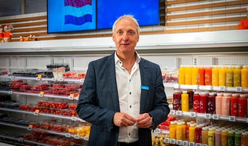 Supermarktmanager John Beukers kijkt al uit naar de heropening van AH Blokhuis.