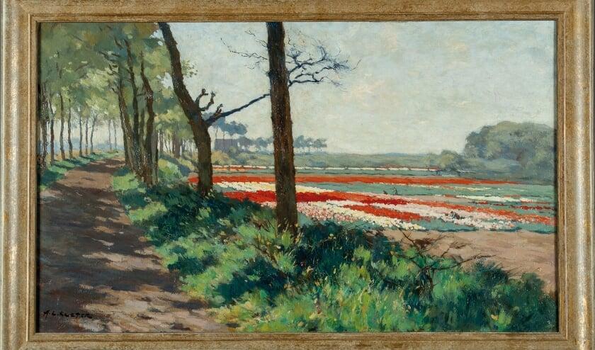 Anton Koster was een van de bekendste schilders van bollenvelden.