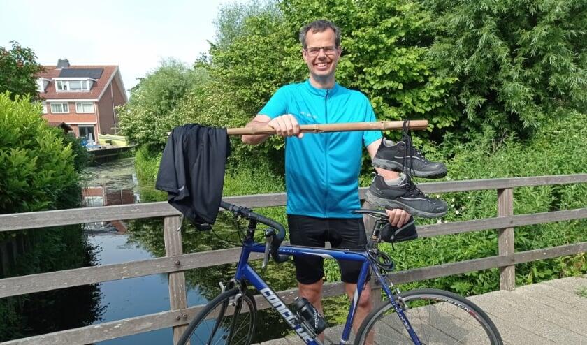 <p>Joep Derksen is klaar voor de triatlon.   Foto: pr.</p>