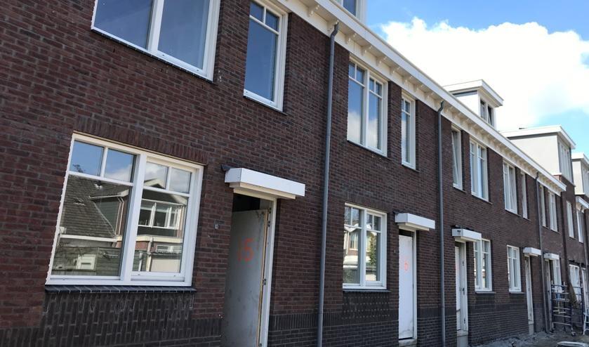 De bouwplaats van Hof van Liduina, waar de woningen zo goed als klaar zijn voor oplevering.