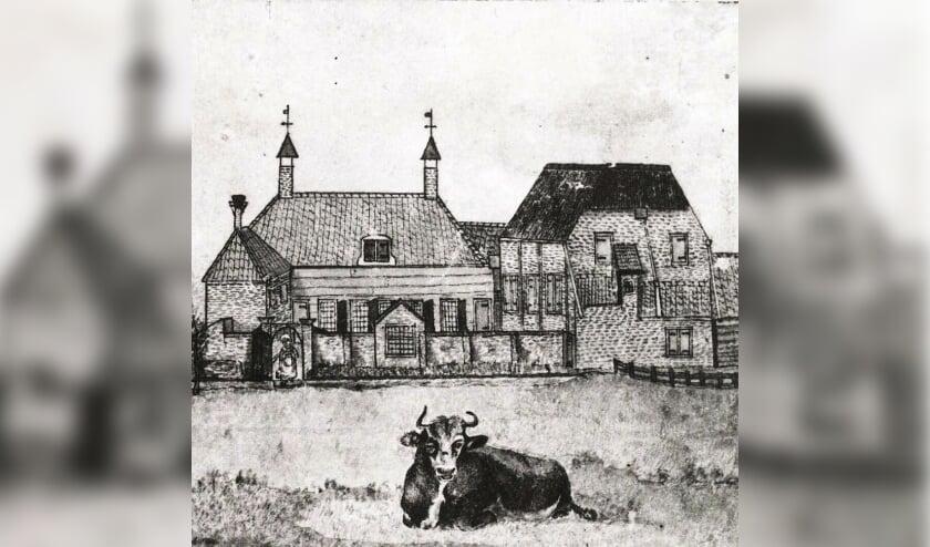 <p>De schuilkerk bij het Mallegat, herbouwd in 1710.   Foto: Oud Lisse</p>