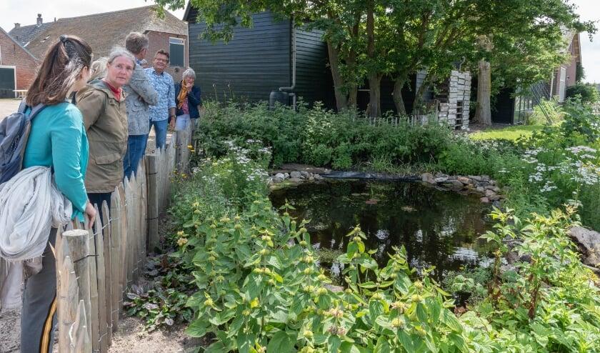 <p>Mart van Bohemen vertelt bezoekers over de kikkerpoel. | Foto: Richard van Egmond</p>
